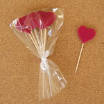 Cupcake Toppers - Fuscia Hearts