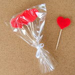 Cupcake Toppers - Red Hearts