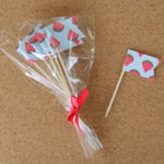 Cupcake Toppers - Patterned Flags