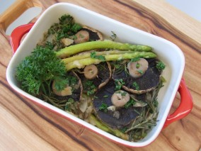Herbed Asparagus and Mushroom with Vinaigrette